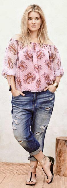 Летние брюки 2016 для полных. Модные летние женские брюки, джинсы, комбинезоны 2016 для полных - фото