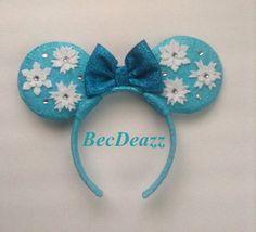 Disney Frozen Elsa Minnie Mouse ears headband on Etsy, $25.00