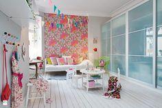 Landrynkowy pokój dziewczynki - zdjęcie od KiddyFave.com - Pokój dziecka - Styl Skandynawski - KiddyFave.com