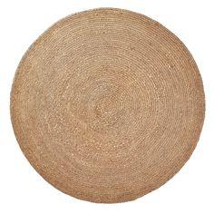 Kave Home Dip - Vloerkleed - Naturel jute - rond - Natural Carpet, Natural Rug, Jute Carpet, Rugs On Carpet, Natural Fiber Rugs, Yellow Rug, Brown Rug, Round Area Rugs, Jute Rug