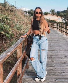 Day Trip Outfit, Outfit Goals, Teen Fashion Outfits, Mode Outfits, Cute Comfy Outfits, Trendy Outfits, Crop Top Outfits, Aesthetic Clothes, Streetwear Fashion