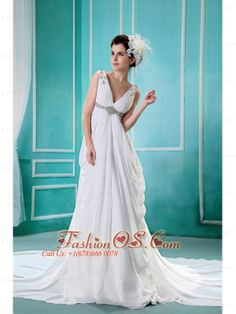 Apple Valley Beading and Ruch Decorate Bodice V-neck Chapel Train White Chiffon 2013 Wedding Dress- $179.46  http://www.fashionos.com  http://www.facebook.com/quinceaneradress.fashionos.us  Product Tags: white chiffon wedding dresses   destination wedding dresses under 200   white wedding gown dress for outdoor   wedding dress with natural waist   where to get a cheap wedding dress   lovely empire bridal dress   white wedding dresses with ruch   2013 new wedding dresses white  