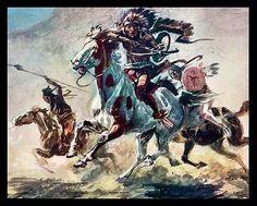 "Charles M Russell 1864 1926 ""Redskin Raiders"" Calendar Art Print | eBay"