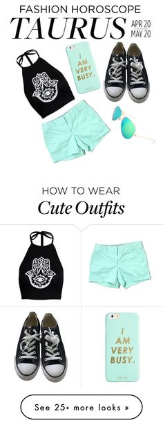 """Edgy fun and cute outfit for them April and May baby's❤️"" by jhalloran on Polyvore featuring J.Crew, Converse, ban.do, fashionhoroscope and stylehoroscope"