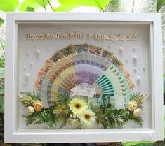 ahar Bernadine and Arif… Rustic Wedding Gifts, Wedding Crafts, Wedding Decorations, 3d Frames, Diy And Crafts, Paper Crafts, Silver Jewellery Indian, Diy Gift Box, Dream Wedding