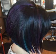 I love the awesome colors but done in a subtle way. It's a possibility! Red Hair Color, Purple Hair, Purple Bob, Oil Slick Hair, Color Fantasia, Haircut And Color, Mermaid Hair, Grunge Hair, Hair Day