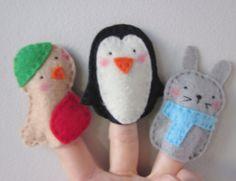 Cute felt finger puppets