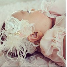 Angel Baby Rosette Headband by CozetteCouture on Etsy