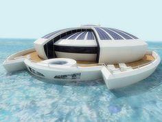 Solar Floating Resort, SFR, Michele Puzzolante, luxury, futuristic, yacht, watercraft, solar power