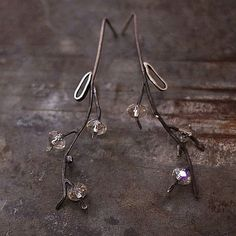 VERKAUF Verwendung Gutschein  Kristall Blume Ohrringe  von ewalompe