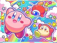 Kirby, Waddle Dee y Waddle Doo Pokemon, Manga, Kirby Nintendo, Kirby Character, Meta Knight, Nintendo Characters, Kawaii Wallpaper, Video Game Art, Illustrations