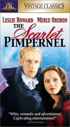 Leslie Howard and Merle Oberon in The Scarlet Pimpernel The Scarlet Pimpernel, Merle Oberon, Leslie Howard, Information Poster, Tv Show Games, Movies Worth Watching, Vintage Classics, Original Movie Posters, Classic Movies