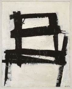 The Chair by Franz Kline, Institution Walker Art Center Franz Kline, Action Painting, Painting & Drawing, Chair Painting, Tachisme, Black And White Painting, White Art, Modern Art, Contemporary Art