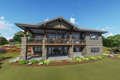 Rugged Craftsman With Drop-Dead Gorgeous Views In Back - 64457SC - 03