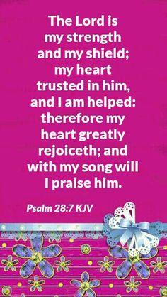 Psalm 28:7 KJV