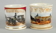Porción # : 725 - Lot of 2: Shaving Mugs.