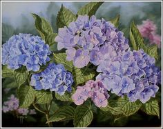 hydrangea painting | 8x10, 11x14, and 16x20