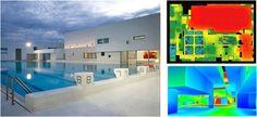 Centre Nautique du Havre, Communauté d'Agglomération havraise, Atelier Jean Nouvel (2004) Etude et optimisation d'éclairage naturel / artificiel