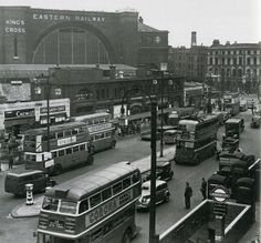 King's Cross in the 1940's. We live where the chimney pops up top right of pic.