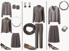 A Grey Wardrobe with Grey Accessories