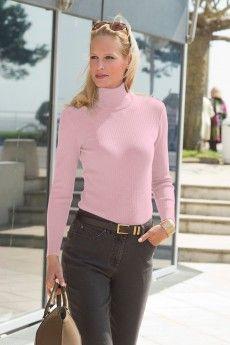 acfdead87d99 Le pull chaussette femme rose. Pure laine vierge mérinos. Fabrication  française.