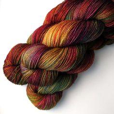 Superwash+Merino+Sock+Yarn+Italian+Holiday+375+yards+by+JulieSpins