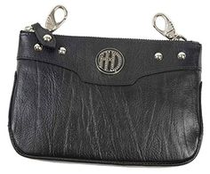 HarleyDavidson Womens HD Crystal Studded Hip Bag Black Leather WW0076LBLK -- Check this awesome product by going to the link at the image. (This is an Amazon affiliate link)