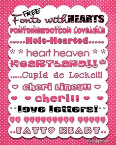 I {HEART} Fonts!! free fonts with download links at inkhappi.com
