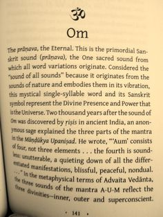 Om, the vibration of the universe. Why I am a Buddhist.. How beautiful
