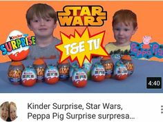 Hi everybody. Thomas & Elliotts new video with kinder, star wars and peppa pig surprise eggs. Please like, share and don't forget to subscribe https://youtu.be/nZBzh2wnZbg