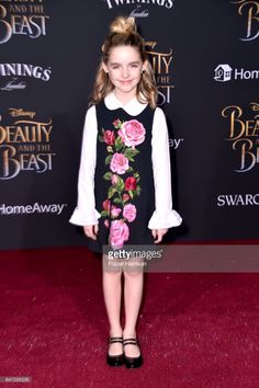 Actor Mckenna Grace attends Disney's 'Beauty and the Beast' premiere at El Capitan Theatre on March 2, 2017 in Los Angeles, California.