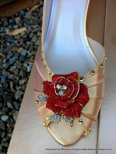 Belle Beauty and the Beast Rose Adult Pair Shoes by Bbeauty79, $149.95