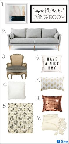 Styling a Layered and Neutral Living Room