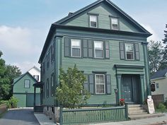 The Lizzie Borden House in Fall River, which is now a bed and breakfast, is claimed to be the most haunted house in the USA. It is the site of a double murder, one of the most famous in US history, claimed ghost sightings and noises. As the house appears today.