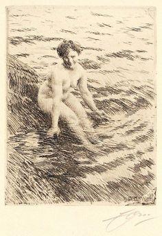 Anders Zorn : Wet at Davidson Galleries