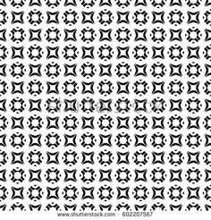 Vector monochrome texture, black & white geometric seamless pattern. Square illustration with simple rounded figures. Abstract light endless background. Design element for prints, decor, textile, web