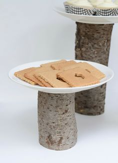 Nalle's House: DIY TREE STUMP CAKE STANDS