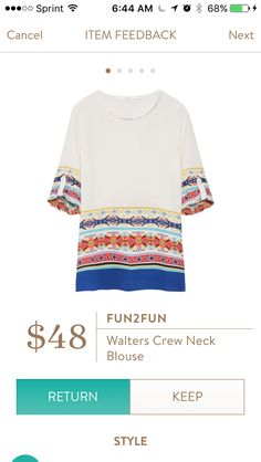 Fun2Fun Walters crew neck blouse. Stitch Fix has some great options for late summer and fall! Want to try Stitch Fix? Sign up here....https://www.stitchfix.com/referral/5198264