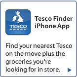 Tesco Finder iPhone App: Find your nearest Tesco on the move plus the groceries you're looking for in store.