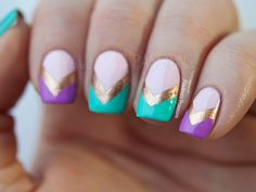 37 Stunning And Colorful Nail Art