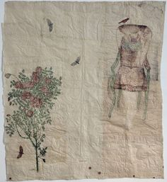 Kiki Smith, Beannacht, 2010 Collage drawing with Nepalese paper, pencil, and red ink