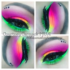 Neon eye makeup                                                                                                                                                                                 More
