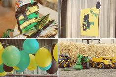 Pin the wheel on the tractor and other cute JD party ideas