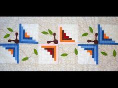 ▶ Caminho (trilho) de mesa patchwork apliquê As borboletas - Maria Adna Ateliê Patchwork e apliquê - YouTube