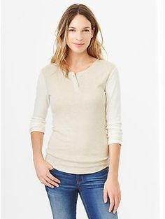 Supersoft colorblock henley - A lightweight layering piece that looks great on its own.