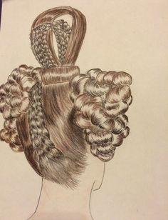 mögliche Technik für die hohen Frisuren der 1830er