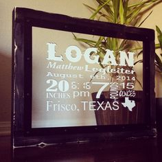 Baby stats sign! Makes great nursery decor. This one even includes a star in the city they live in. :)