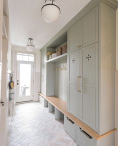 Mudroom Laundry Room, Mud Room Lockers, Style Me Pretty Living, Up House, Interior Exterior, Interior Design, Building A House, House Plans, New Homes