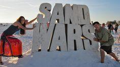 Sand Wars on Siesta Beach