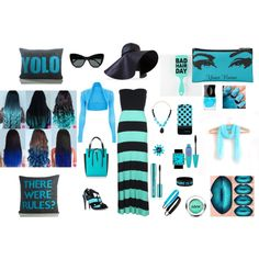 BLUEBLACK LOVE by paty-polyvore on Polyvore featuring Hurley, Aperlaï, Michael Kors, Tiffany & Co., P.A.R.O.S.H., Panacea, GAB, J.W. Anderson, Sweaty Bands and STELLA McCARTNEY